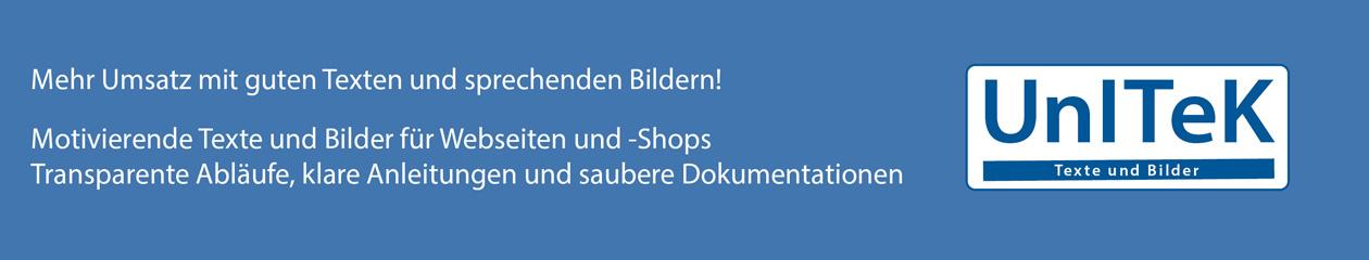 Texte, Abläufe, Bilder für Webseiten und -Shops